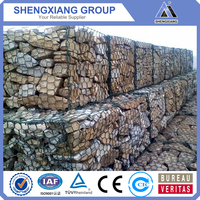 PVC Gabion Basket /galvanized Gabion Basket/Anping factory/gabion box/ISO:9001(Fast delivery, low price and high quality)