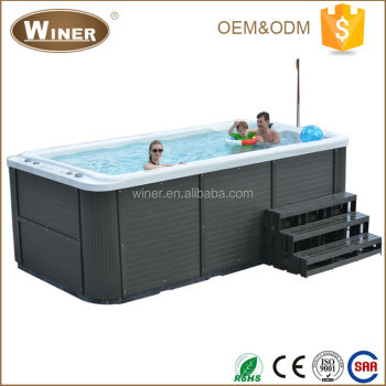 4400mm Freestanding large discount acrylic whirlpool massage used balboa swim spa for 2 persons