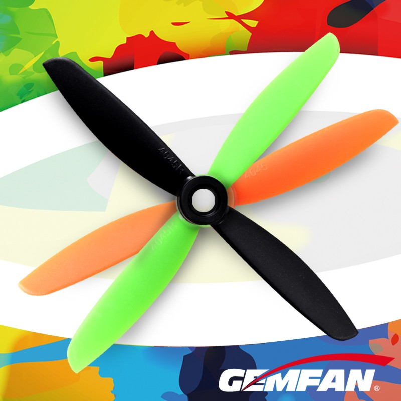 4045 high quality RC Gemfan FPV drone propeller with 6 colors for flying toy plane
