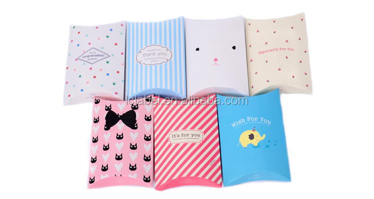 Recycled folding paper pillow gift box wholesale paper pillow box custom pillow boxes for hair extensions packaging