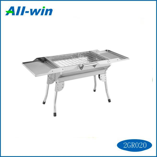 High-quality Small double-wing stainless steel BBQ foldable and <strong>portable</strong>