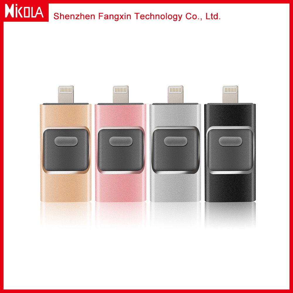 New 3 in one USB2.0/3.0 Interface Type usb memory stick for iphone promotional USB 2.0 flash drive