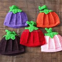 Crochet Baby Pumpkin Fall Beanie Hat