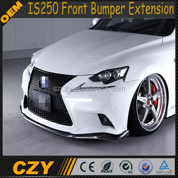 IS250 W Design PU IS250 Front Bumper Extension for Lexus 2014-2015 IS 250 IS350 F Sport ISF bumper only