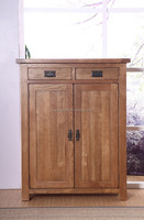 natural color oak wood shoe cabinet