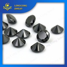 round cut natural black spinel stones precious