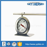 stainless steel small hanging type refrigerator thermometer