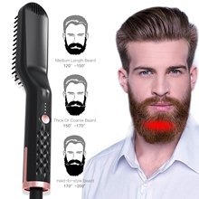 2019 <strong>Best</strong> Selling Beard <strong>Straightener</strong> for Men <strong>Hair</strong> Comb Brush PTC Heating Ceramic Beard Straightening Comb Wholesale Dual Voltage