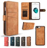 Hot selling high quality luxury design leather wallet phone case cover for iphone 6 6 plus 7 7 plus