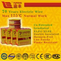 co-extruded irradiated XLPO and XLPE insulated halogen free electric wire electrical wire and cable