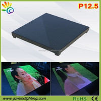 High quality P12.5 Fullcolor Video Function LED dance floor for sale