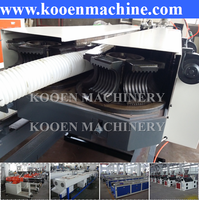 Automatic pe pp pvc plastic corrugated pipe extrusion extruder machine line plant