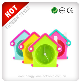 Cheap kids travel mini fancy silicone alarm clock