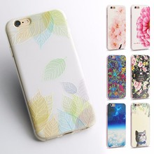 Fruits Flower Cactus 3D Relief Silicone Case For iPhone 7 7Plus For iPhone 5S 5 SE 6 6S 6Plus