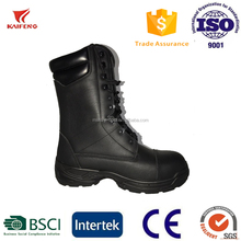 Kaifeng 10 hole full grain leather tactical military boot