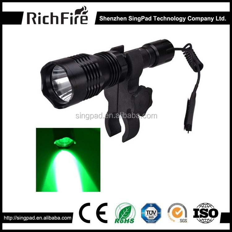 guns and weapons led self defence hunting torch ,hunting torch with remote buttom, hunting torch light 500 lumen