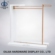 Rose golden clothes display, clothes stand to hang clothes, display stand design