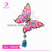 outdoor metal garden butterfly decoration hanging wind bell chimes indoor wind chimes