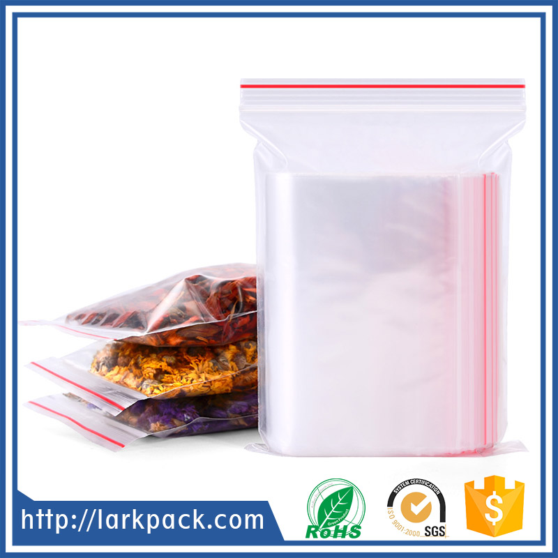 taobao hot transparent plastic zipper bag for food