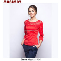 online shopping india, three quarter sleeve blouses mature women wear lace top