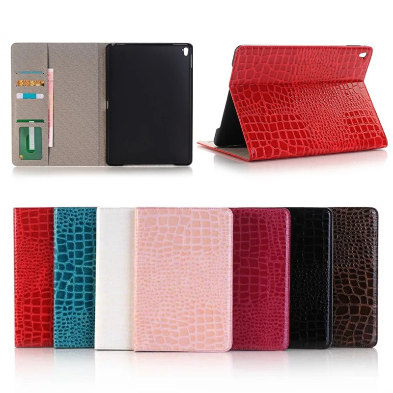 Case for ipad Pro 9.7, for iPad Pro 9.7 Crocodile Pattern Leather Case with wake up/sleeping function