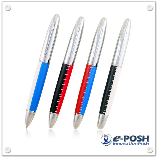 Business advertising Bi-color PU leather luxury pen