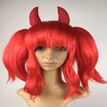 Hot sell red devil Women's Glam Wig with horn