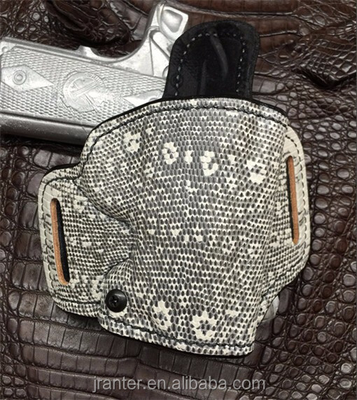 Ph7 - Customize genuine Lizard leather Gun Holster Concealed for 1911 - 3inch RH