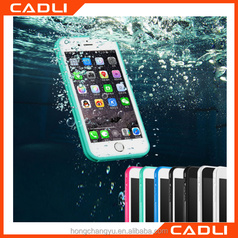New Waterproof phone case! Shockproof TPU+PC Waterproof Screen Touch Phone Cover for iphone 6 6s