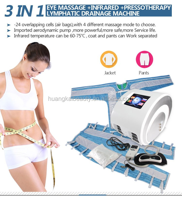Pressotherapy Slimming lymphatic drainage body shaping suit / Air wave pressotherapy machine