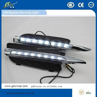 Automotive LED daytime running light modified installation of light-bar high lighting system for BMW X5 E70 (2007 - 2010)
