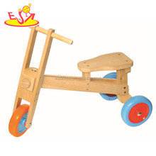 wholesale top fashion kids wooden baby tricycle cheap children wooden baby tricycle W16A023