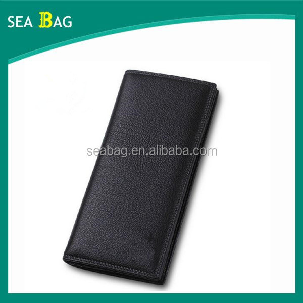men's Genuine Leather long Bifold multi-function wallet factory Customized logo