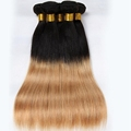 Grade 7a ombre color human hair weft juancheng factory wholesale color 1b/30# virgin brazilian hair