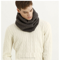 Men's fashion woolen infinity knit cashmere scarf