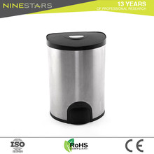 Wholesale Half Round Step 15l Swing Top Cabinet Room Waste Bin