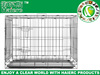 iron dog crate double-door dog cage dog kennels for large dogs