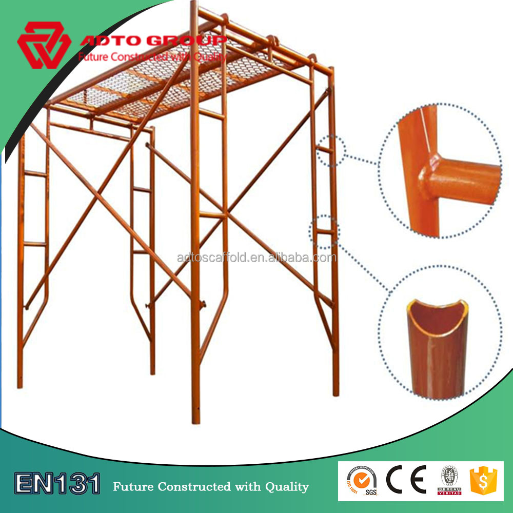 Hot sale safe h frame scaffolding material specification