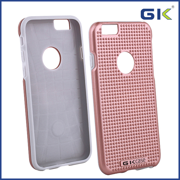 [GGIT] Fashion Custom Logo With Massage Dots TPU+PC Combo Phone Case For IPhone 6 Cover