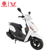 New cheap white 100cc gasoline motorcycle with pedals
