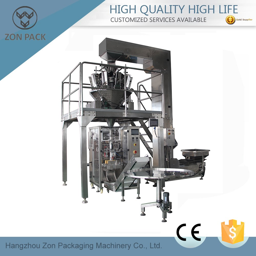 new design vertical automatic snacks packaging machine
