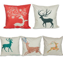 Christmas Gift Reindeer Pillow Cases to you choose