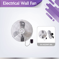 Heavy blade powerful wind SS-2422WF-3AL industrial metal mounted wall fan