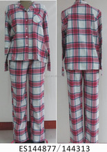 100%cotton comfortable women pajamas for shirt and trousers