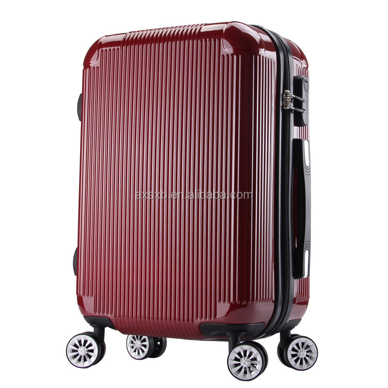 trolley suitcase /abs trolley luggage /abs pc printing trolley bag