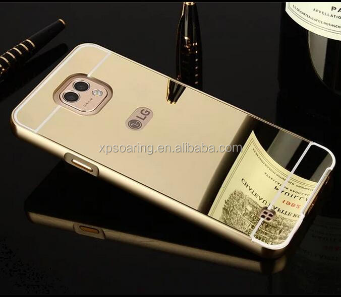 Mirror Alloy bumper with PC back case cover for LG X Cam K580