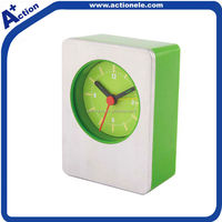 Plastic analog table alarm clock