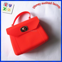 For summer sea hot selling colorful for sex ladies silicone rubber beach bag