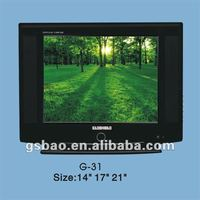 tv color crt, color television 14 inch, 21 inch pure flat crt tv