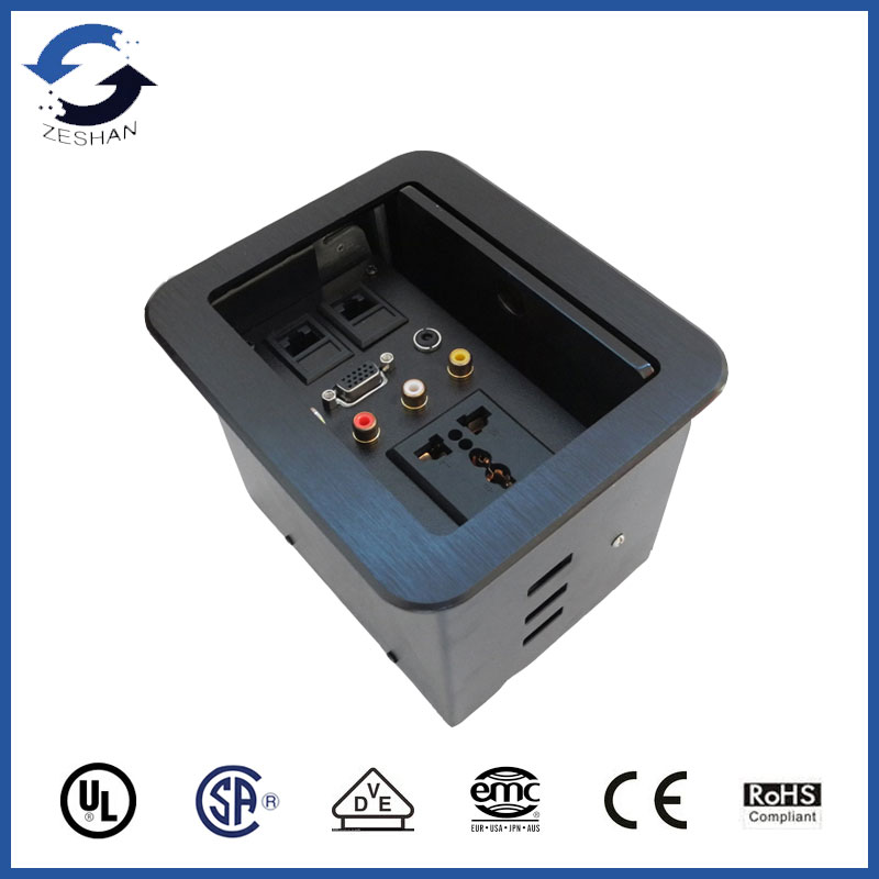 Lifting Desktop Socket with Universal power and AV Group